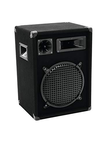 OMNITRONIC DX-1022 3-wegs box 400 W | robuuste full-range box met 10 inch woofer en 400 watt vermogen | 1 stuk