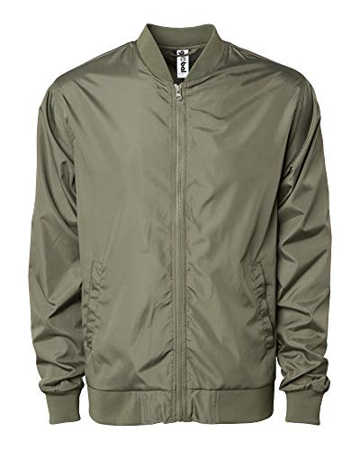 Global Blank Men's Slim Fit Lightweight Zip-Up Softshell Flight Bomber Jacket