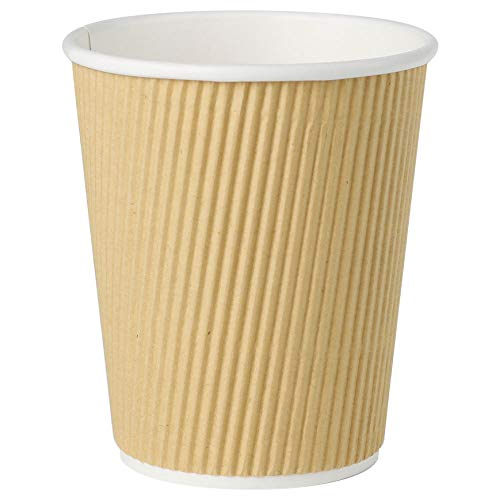 Bionatic Spain Vaso para Cafe, Carton Kraft Ondulado marrón ecológico, Biodegradable y...