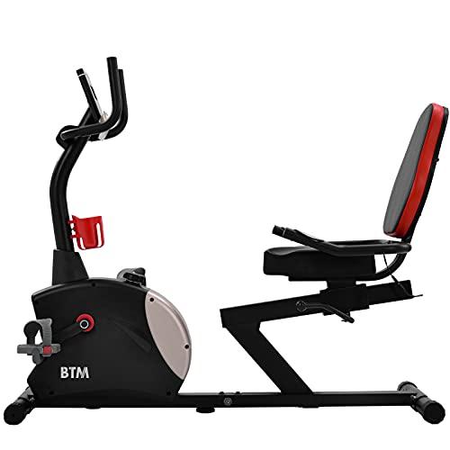 ADFBL Bicicleta de ejercicio reclinable, bicicleta de ejercicio para el hogar con resistencia magnética de 8 niveles