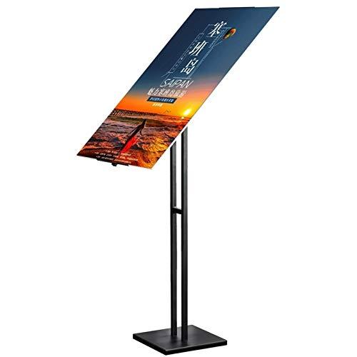 Vitrinas Metacrilato-Marcos Para Poster Signo de signos Soporte de pantalla Soporte adecuado para la mayoría de los tamaños de carteles / 360 ° Ángulo / altura ajustable libremente ajustable / multius