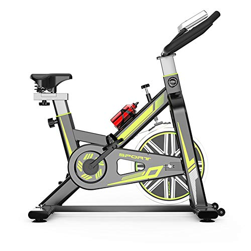HLeoz Biking Vélo d'Appartement, Vélo Spinning avec Moniteur de fréquence Cardiaque Silencieux 150 kg Max Vélo d'Appartement Confortable et Silencieux,Vert