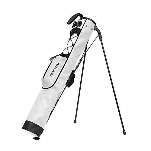 【公式】 PYKES PEAK「パイクスピーク」【軽量 980g 全18色 7本収納】 セルフスタンド ゴルフ クラブケース【フード/大型ポケット付き】 PP-GOLF SERIES 2020年 (WHITE)