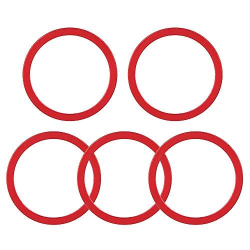 JDV 5 piezas 1 ~ 2,5 mm aleación de aluminio rueda de inercia rueda de bicicleta MTB bicicleta pedalier arandela (1 mm, rojo)