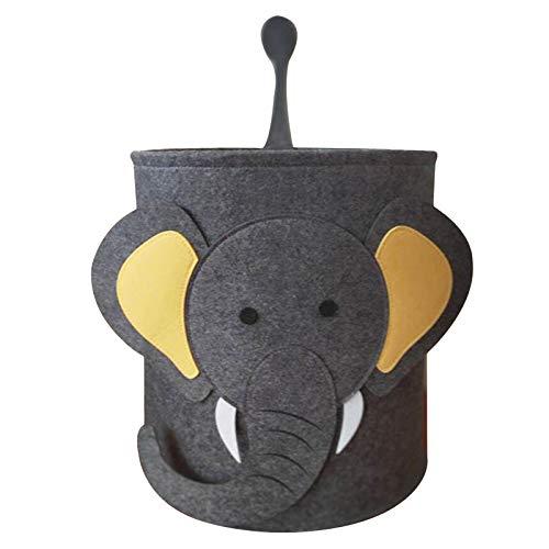 LdawyDE Cestas de Almacenamiento Juguetes, Caja de Juguetes Infantil, León/Elefante Cestas de Almacenamiento de Tela Cajas de Juguetes de Dibujos Animados en 3D para Hogar Oficina,35 * 35 * 37cm