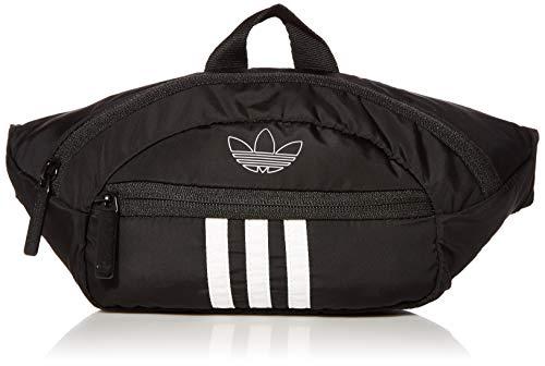 adidas Originals Unisex National Waist Pack   Fanny Pack   Travel Bag Black White Stripes, One Size