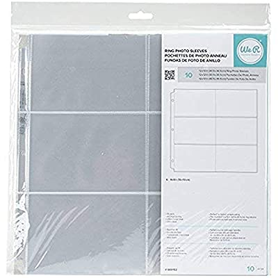 12 x 12 inch (4 x 6-Inch Pockets) 3-Ring Album Photo Sleeve Protectors (New Version)