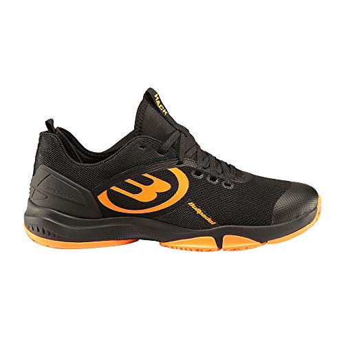 Bullpadel Hack Knit 2020 Negro/Naranja Zapatillas, Adultos Unisex, 43 EU