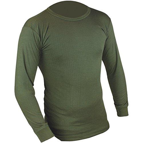 HIGHLANDER T-Shirt Thermique à Manches Longues pour Homme Vert Vert Olive Small
