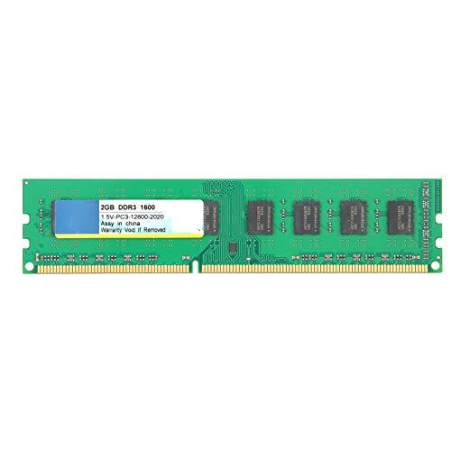 Goshyda Barra de Memoria para computadora de Escritorio, portátil DDR3 2GB 1600Mhz PC3‑12800 1.5V, para AMD 3.a generación