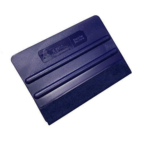 PEMA AVERY plastic rakel blauw met viltrand voor folie en labels en muurtattoos