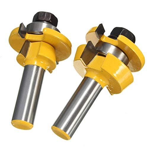 RB11 Shaker Bevel Rail and Stile Glue Joint Router Bit for Cabinet Door 1/2 Inch Tool