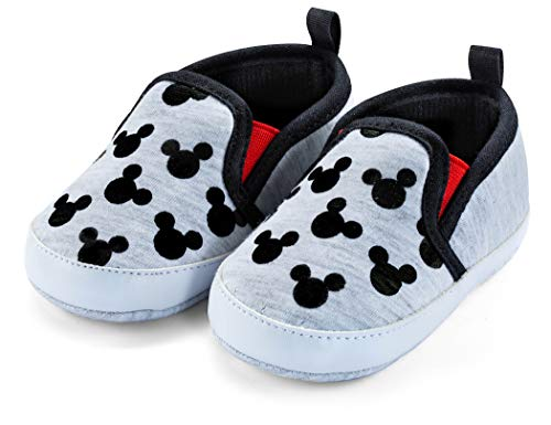 Disney Mickey Mouse Red and Black Infant Shoes - Size 3-6 Months