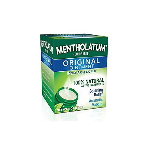Mentholatum Original Ointment Soothing Relief, Aromatic Vapors - 1 oz (Pack of 4)