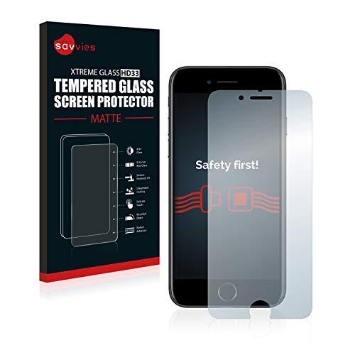 savvies Protector Cristal Mate Compatible con Apple iPhone 7/8 - Dureza 9H, Antireflejos