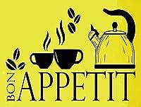 Bon Appetit メタルポスタレトロなポスタ安全標識壁パネル ティンサイン注意看板壁掛けプレート警告サイン絵図ショップ食料品ショッピングモールパーキングバークラブカフェレストラントイレ公共の場ギフト