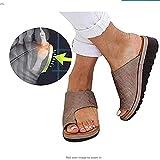Künstliche PU orthopädische Schuhe Bunion Concealer Bequeme Keil Plattform lässig Damen Finger Fettkorrektur Sandalen,4,38