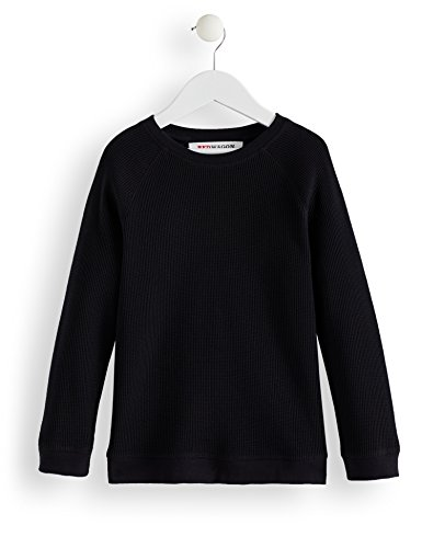 Amazon-Marke: RED WAGON Jungen Sweatshirt Raglan, Schwarz (Black Beauty), 116, Label:6 Years