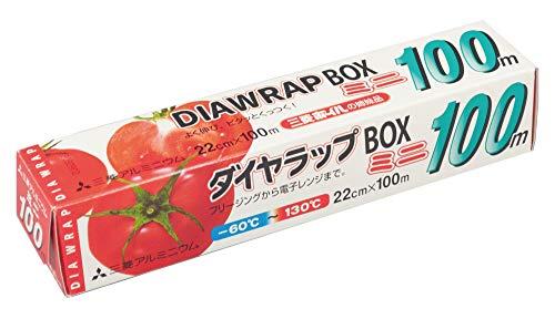三菱アルミニウム ダイヤ ラップ BOX 業務用 ミニ 透明 幅22cm×長さ100m 日本製 耐熱温度 -60度~130度 よく伸び ピタッとくっつく