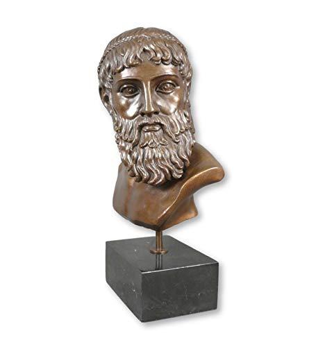 Htdeco - Busto de Zeus - escultura de bronce