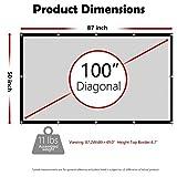 Zoom IMG-1 dawoo schermo per proiettore 100