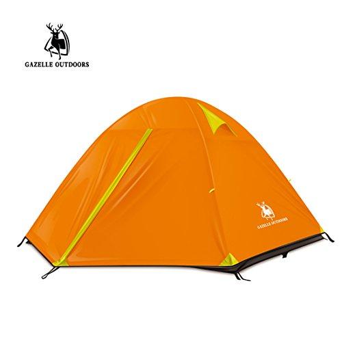 WENTAO Tienda para Camping Tres Personas Doble Layernylon
