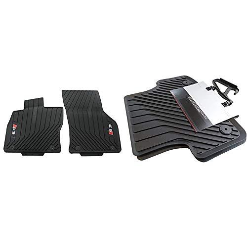 Audi 8V1061221B 041 Gummi Fußmatten Gummimatten 2X vorn schwarz Allwettermatten & 8V0061511A041 Gummifußmatten hinten mit Verclipsung schwarz A3/S3 2 Stück