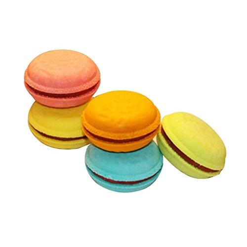 Zhouba 5 pcs Macaron Biscuit gommes enfants étudiants Stationery Office Fournitures scolaires – Couleur aléatoire