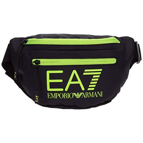 Emporio Armani EA7 hombre riñonera antracite/yellow fluo