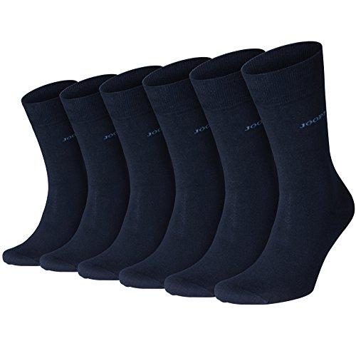 Joop! Herren Socken 'Basic Soft Cotton Men' 6er - Hochwertige Baumwollsocken, Sechs Paar - Navy - Größe EU 39-42 (000_H-3000-3942)