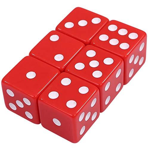 [ルボナリエ] 大きい デカい サイコロ ダイス 6面 数字 ゲーム道具 見やすい おもちゃ 25 mm (赤)