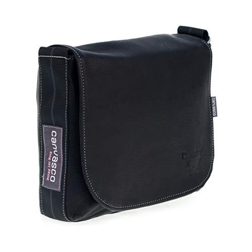 Ledertasche CANVASCO Mini Deer/Tasche aus Hirschleder/Gurt schwarz-grau