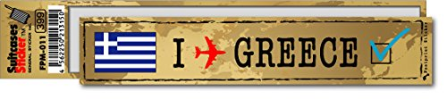 FP-011 フットプリント ステッカー/ギリシャ(GREECE) スーツケースステッカー 機材ケースにも (地図柄)