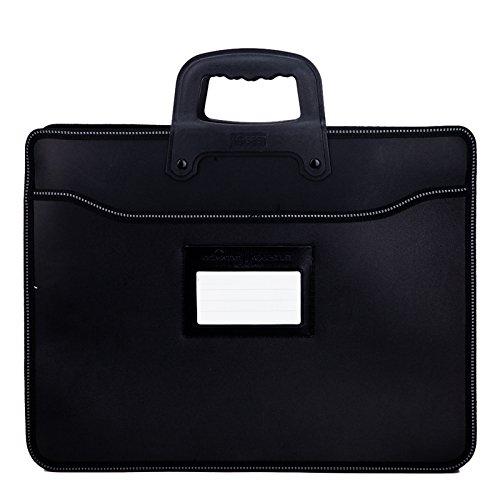 WSLCN Business-Tasche, Dokumentenmappe, Aktentasche, Handtasche, Aufbewahrung, Ordner, Ordnungsmappe, A4, Dokumente, Herren, tragbar, Tasche und Schutzhülle für Verkaufsbüro, Laptop, schwarz