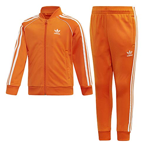 adidas Kinder Tracksuit SUPERSTAR SUIT, orange/white, 7-8Y, EI9867