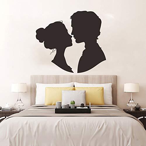 Pareja amorosa calcomanías de pared para dormitorio amor romántico arte decoración pegatinas de pared hombres y mujeres regalos del día de San Valentín A1 45x51cm