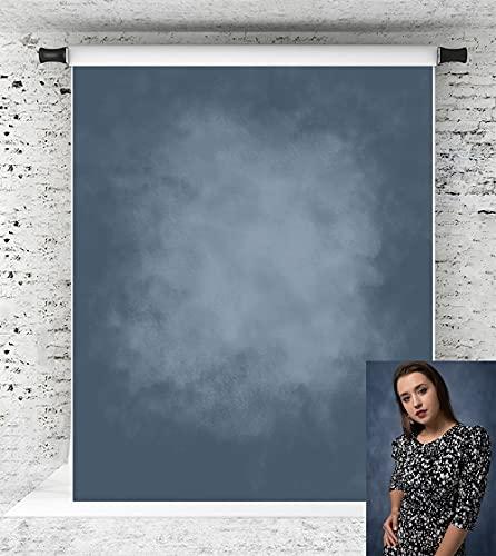 KateHome PHOTOSTUDIOS Fond de photographie abstrait bleu foncé dégradé bleu foncé 1,5 x 2,2 m