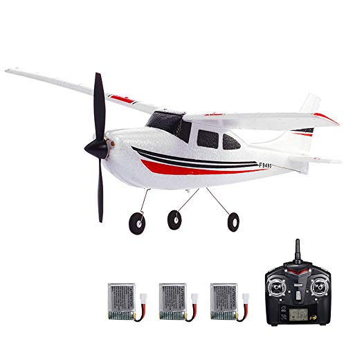 GoolRC F949S Avión RC Wltoys Aeronave Airplane 2.4G Plane RC Aeronave Aircraft 3CH Remote Control EPP Airplane Miniature Model Plane Juguete Interior al Aire Libre (3 Batería)