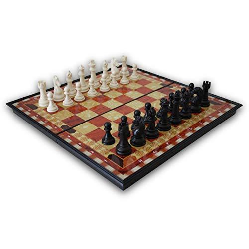 Natural Logistics Ajedrez Magnético-Madera-Tablero De Ajedrez Plegable-Juego de ajedrez-Juegos De Mesa clásicos-Ajedrez...