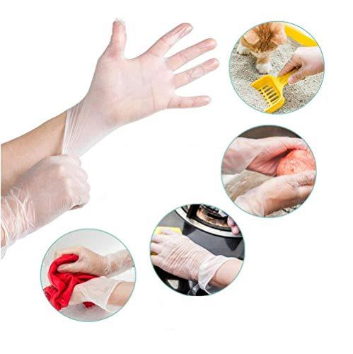 Matige Poedervrije Wegwerphandschoenen Transparant Vinyl Latex Handschoenen, PVC-handschoenen Per Verpakking 100 Arbeid Industriële Keuken Koken Grill Schoonmaken Handschoen (Size : L)