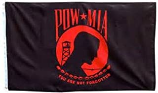 ALBATROS 3 ft x 5 ft Pow Mia Powmia Red You are Never Forgotten Flag House Banner Grommets for Home and Parades, Official Party, All Weather Indoors Outdoors