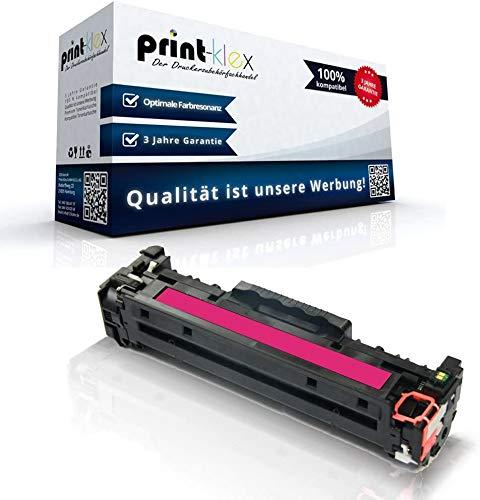 Print-Klex Kompatible Tonerkartusche für HP Color LaserJet CM2320EI MFP Color LaserJet CM2320FXI MFP Color LaserJet CM2320N MFP CC533 A Rot Magenta