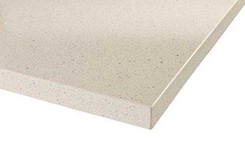Maxtop - encimera de cuarzo modular para cocina 10cm x 10cm (Sample) blanco perla