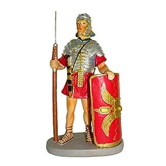 Ferrari & Arrighetti Figuras Belén: Soldado Romano con Escudo – Colección Martino Landi para Pesebre de 10 cm