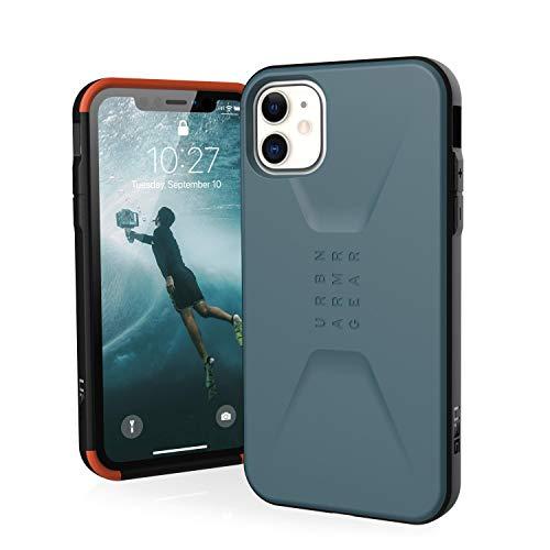 Urban Armor Gear Civilian Apple iPhone 11 (6.1') Cover Protettiva Rugged Custodia (Compatibile Con il Qi Wireless, Ultra Slim Protezione Case, Antiurto) - blu ardesia