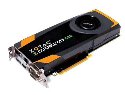 Zotac NVIDIA GeForce GTX 680 Grafikkarte (PCI-e, 4GB GDDR5 Speicher, DVI, HDMI, DP, 1 GPU)