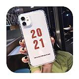 Nine-C Fashion 2021 - Funda para iPhone 11 Pro 12Mini XR X XS MAX SE20 7 8 6Plus (poliuretano termoplástico)