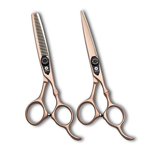 Professional Hair Cutting Scissors Barber Scissors Kit Hair Thinning Shears Set...