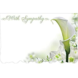 """50ct. Lily Flower""""with Sympathy"""" Blank Florist Enclosure Cards Small TagsGreeting Cards & Party Supply, Gift Wrapping Supplies, Greeting Cards, Invitations"""