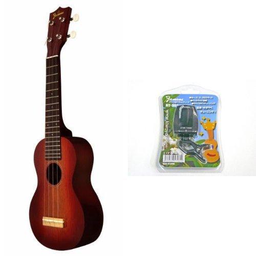 【 チューナーセット 】 Famous ukulele ( フェイマス ウクレレ ) FS-7G ソプラノ ザイズ